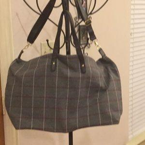 Ginormous Plaid Weekender Travel Bag